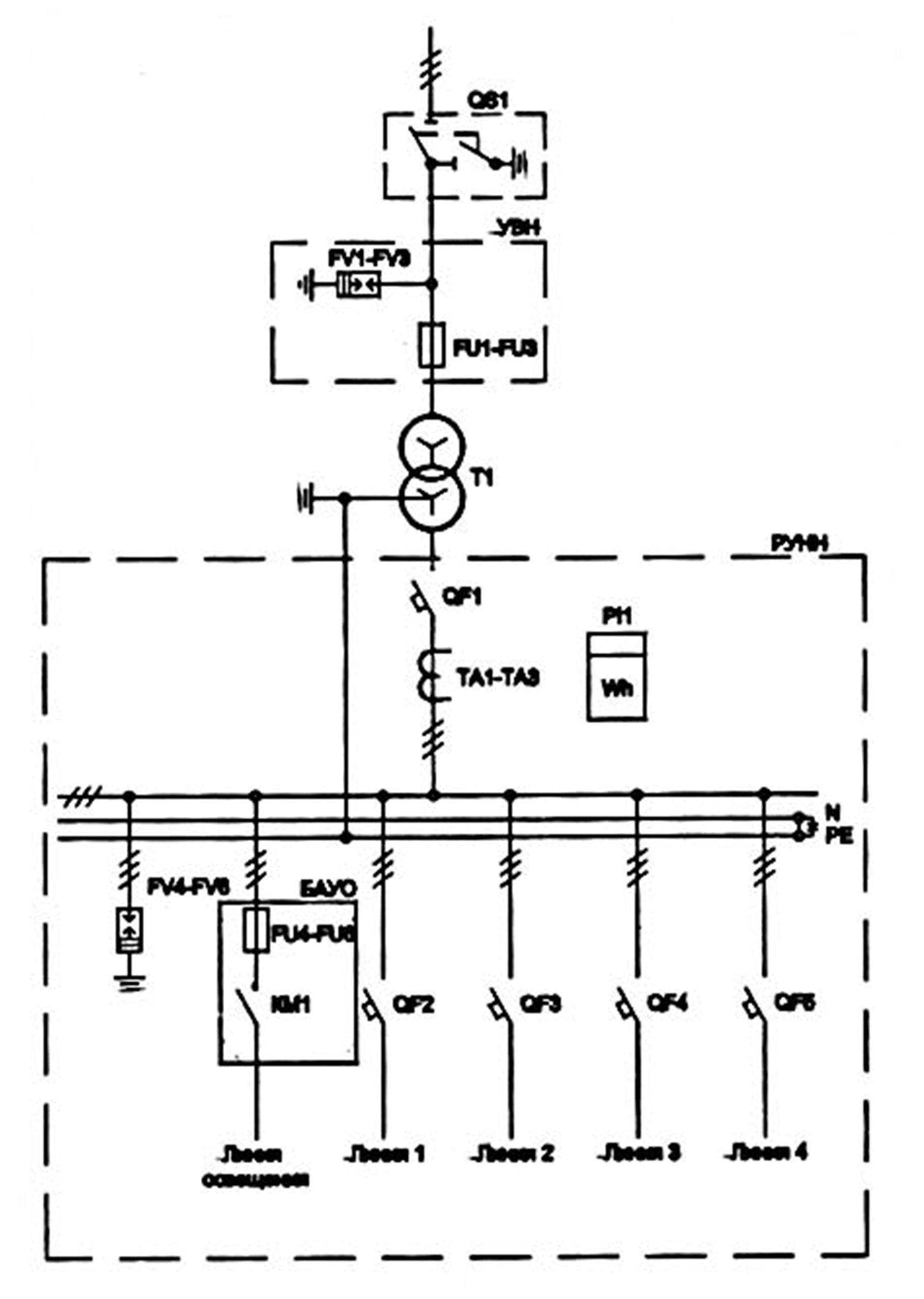 Обозначение трансформатора тока на схеме электроснабжения